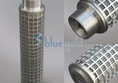 Cartuchos filtrantes de acero inoxidable plisados