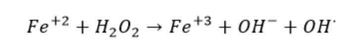 formula de Fenton process