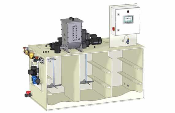 Sistemas de preparación de polielectrolitos Sera PolyLine Flow BlueGold distribuidor oficial