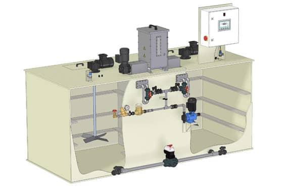 Sistemas de preparación de polielectrolitos Sera PolyLine Swing| BlueGold distribuidor oficial